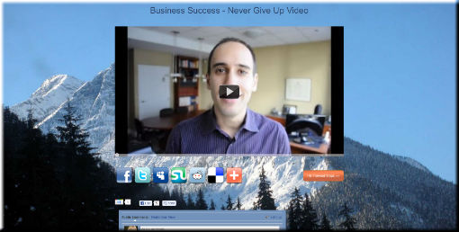 Business Success: Never Give Up Video