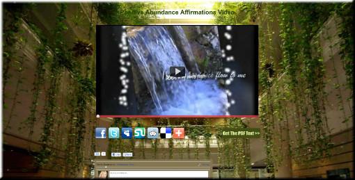 Positive Abundance Affirmations Video